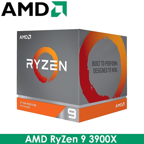 AMD RyZen R9 3900X AM4/12核24緒/3.8G(↑4.6G)/70M/7nm/105W/PCIE4.0