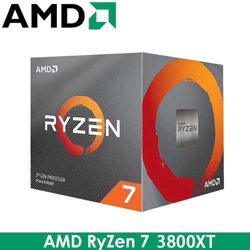 AMD RyZen R7 3800XT AM4/8核16緒/3.9G(↑4.7G)/36M/7nm/105W/PCIE4.0